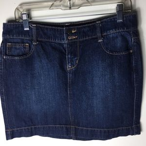 Old Navy Blue 6 Classic Mini Romantic Skirt